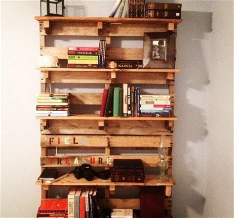 diy pallet bookcase made from recycled pallets pallets
