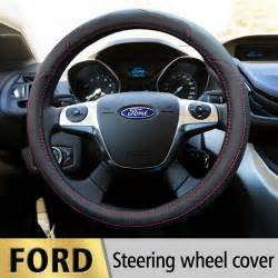 Steering Wheel Covers Ford Focus Leather Car Styling Steering Wheel Cover For Ford