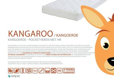 Matras Bed Kangaroo abz kangaroo pocketvering 60x120 matras tencel