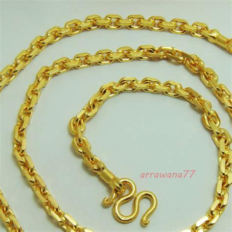 s chain 22k 23k 24k thai baht gold filled yellow gp