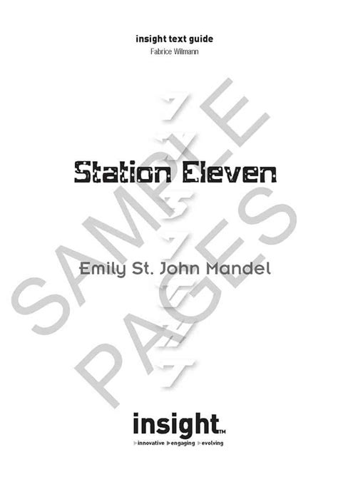 Station Eleven – Insight Text Guide – Insight Publications