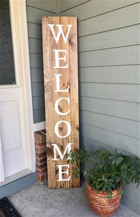 home outdoor decor welcome wood sign 6 knot and nest designs