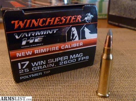 17 winchester super mag able ammo armslist for sale 17 winchester super magnum wsm ammo
