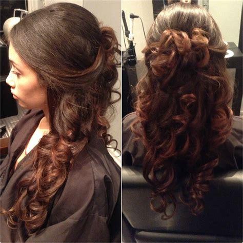 half up half down black hairstyles hairstylo