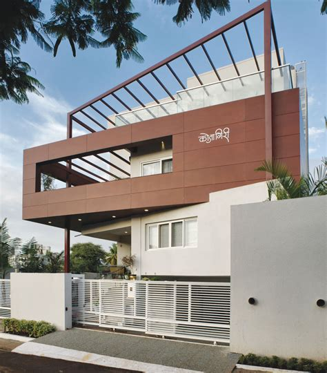 Bungalow House Design With Terrace Tall House Pune