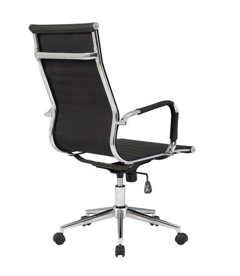 ribbed high back office chair ergonomic ribbed pu leather high back executive computer