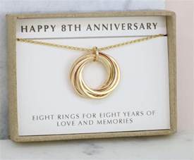 8th anniversary gift for wife 8 year anniversary necklace for