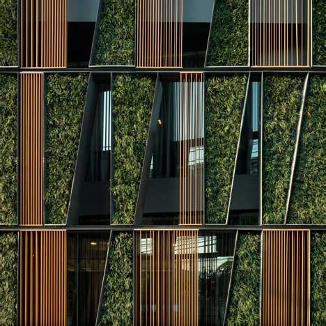 great world structures with green facades and vertical gardens