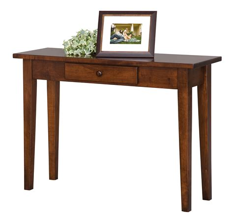 sofa table with drawer elm crest 577 shaker sofa table with drawer