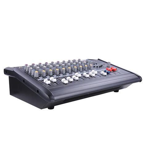 Audio Mixer Power 10 channel 2000 watt powered audio mixer power mixing