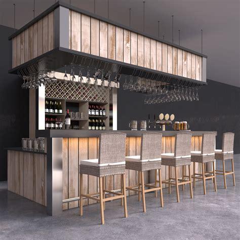 sketchup layout wine 3d model bar beer tap wine bottles