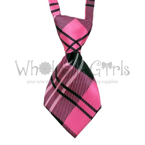 Cake Roll Hair Tie Hair Clip pet neck tie pink plaid neck and bow ties