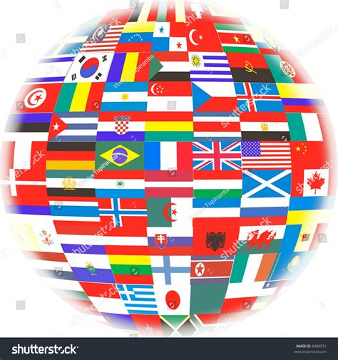 flags of the world how many many flags of countries in the world stock photo 8489551