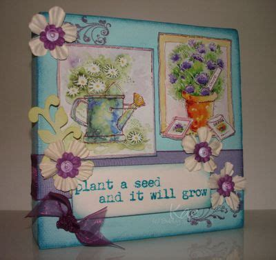 Canvas Decoupage - decoupage canvas by kaz bubbly scrumptious