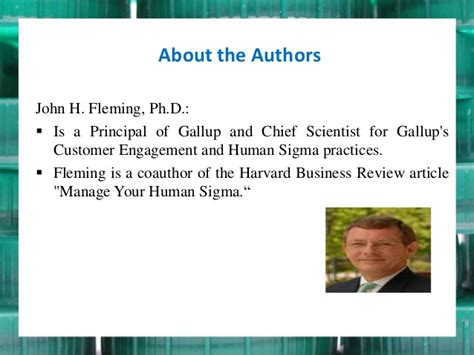 Gallup Mba by Presentation On Manage Your Human Sigma Article