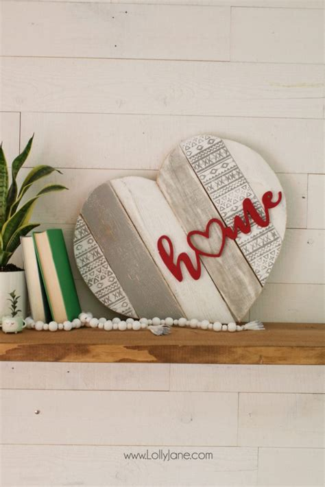 heart home decor home stenciled pallet heart home decor lolly jane