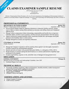 Claims Examiner Sle Resume cover letter for claims adjuster resume exles plant superintendent memes