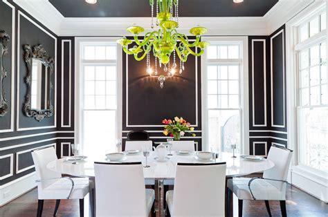 Black Accent Wall In Dining Room как декорировать стены молдингами