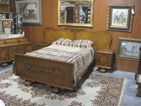Era Bedroom Furniture Depression Era Deco Bedroom Suite Bed Dresser Wardrobe For