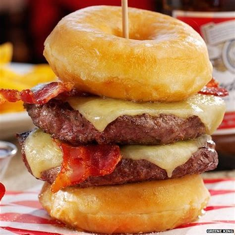 pub chain criticised for calorific doughnut burger bbc news