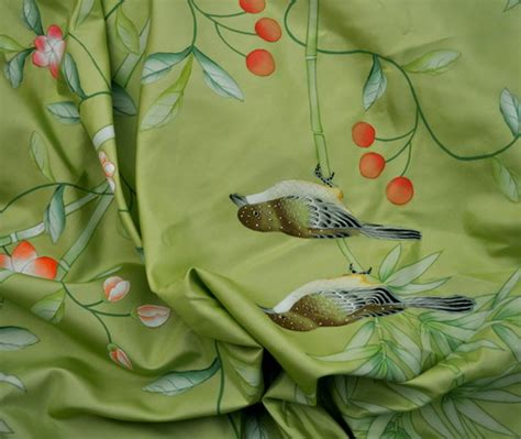 hand painted upholstery fabric hand painted wallpaper chinoiserie wallpaper silk