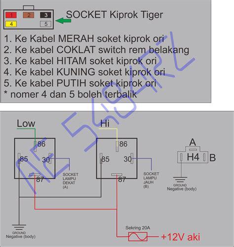 wiring diagram klakson dengan relay k