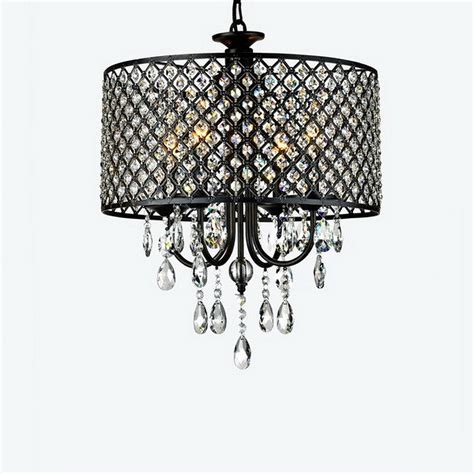Drum Chandeliers With Crystals Drum Style Metal Fixture Deco Pendant L Ceiling Lighting Chandelier Ebay