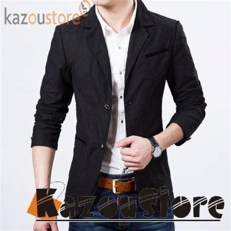 Jaket Jas Jas Blazer Casual Hitam detil produk blazer casual hitam bc106 kazoustore