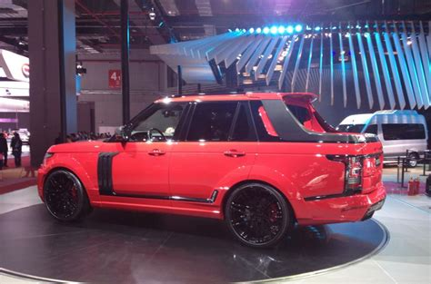 land rover pickup for startech range rover pick up unveiled autocar