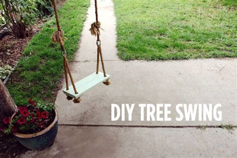 diy rope swing stylish diy variations of the old fashioned tree swing