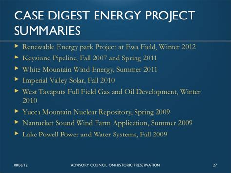 section 106 review for energy projects issues and