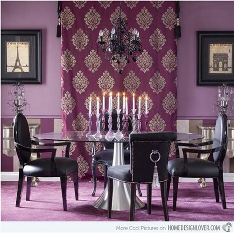 Purple Dining Room Ideas | 15 purple dining room ideas home design lover