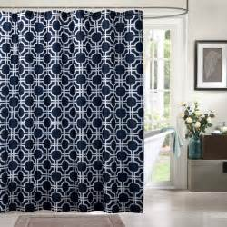 solid blue printed geometric shower curtains polyester