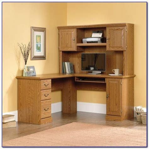 sauder harbor view l shaped computer desk in salt oak l shaped computer desk with hutch sauder desk home
