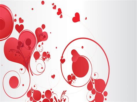 love swirls powerpoint templates love red free ppt