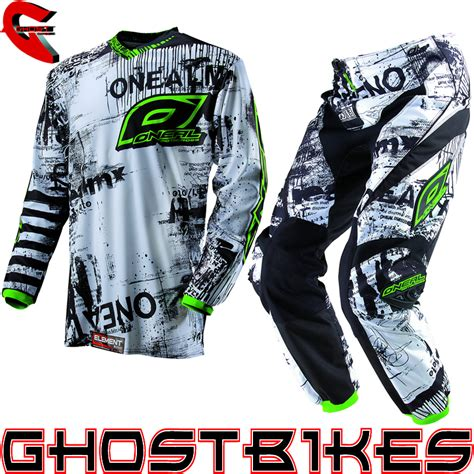 motocross jersey and combo oneal 2013 element toxic black green mx motocross jersey