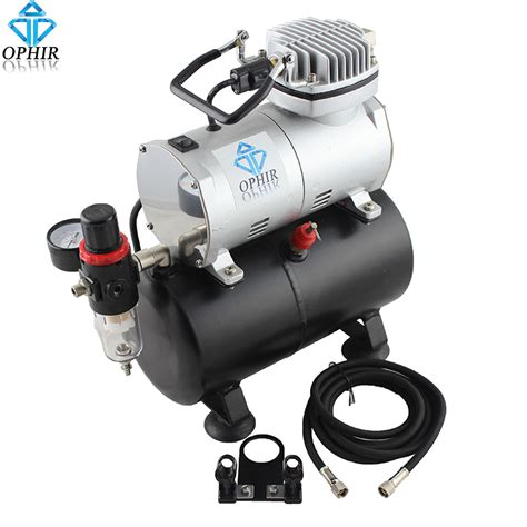 ophir portable mini air compressor with tank for hobby airbrush car wall painting cake