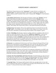 Agreement Letter For Website Website Design Agreement Template