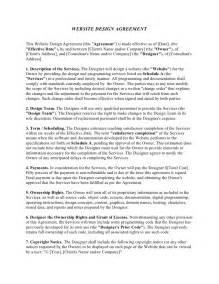 Website Design Agreement Template