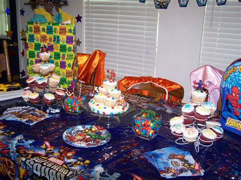 themed party house spiderman themed birthday party decoration home party ideas