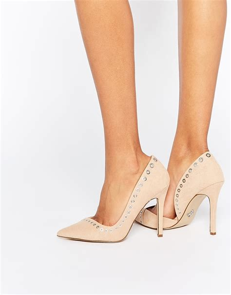 Corset Detail Stiletto Court Shoe At Asos by Lipsy Rivet Heeled Court Shoes In Lyst
