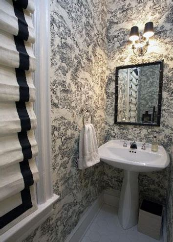 Black And White Toile Kitchen Curtains Greek Key Roman Shade Transitional Bedroom Beth Webb