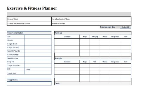 weekly fitness plan template the gallery for gt weekly workout template