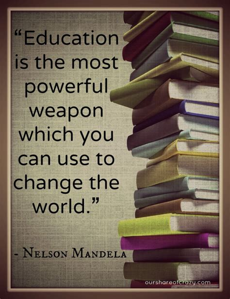 quotes on education mandela on education quotes quotesgram