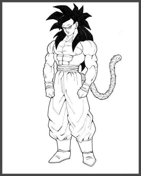 imagenes de goku fase 4 para dibujar dragon ball z para colorear goku fase 4 imagui