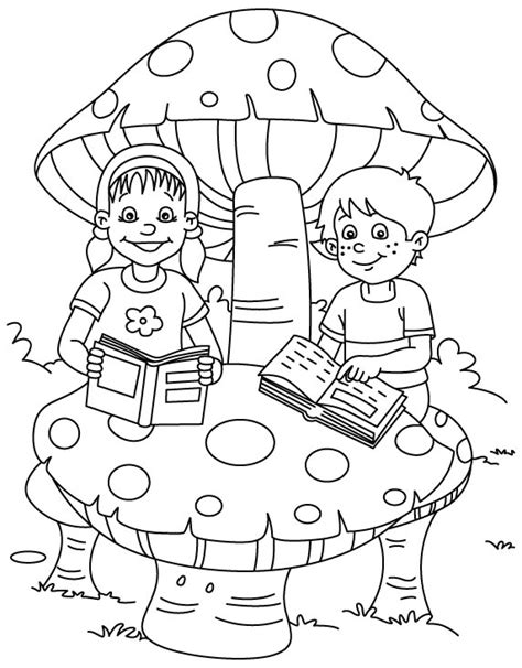 Reading Coloring Page read child colouring pages