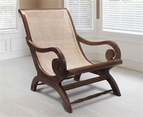 Capri Teak & Rattan Planter's Chair, Colonial Lazy Chair