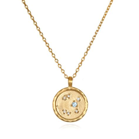 sagittarius zodiac gold necklace celadon