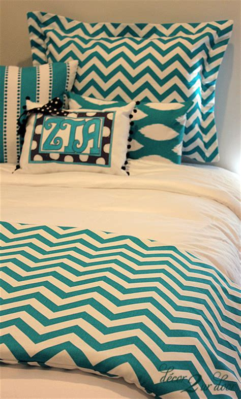 girls chevron bedding dorm bedding girls turquoise chevron designer dorm room