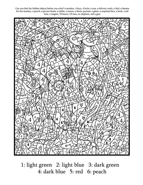 coloring pages by numbers for adults color by number coloring page find the hidden objects